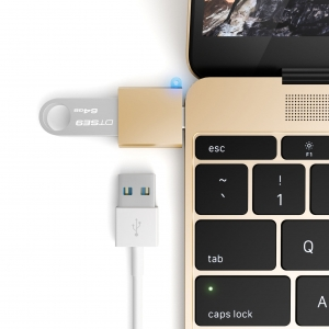 SATECHI ADAPTER USB-C USB Gold | MacBook