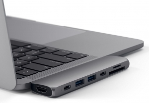 SATECHI Aluminum Type-C Pro Hub Adapter Thunderbolt Space Gray | MacBook Pro